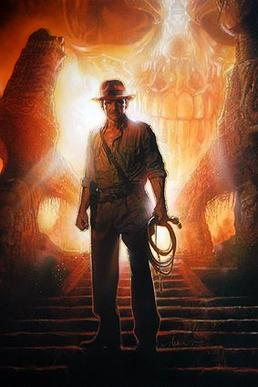 "With the release of ""Indiana Jones and the Kingdom of the Crystal Skull,"" veteran poster artist Drew Struzan's painting is again part of a vintage recipe. His posters for the new movie are as much a throwback as is Harrison Ford once again donning that famous fedora."