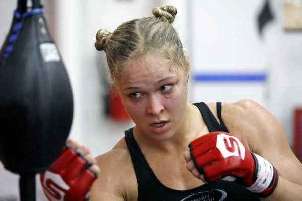 ARCHIVE PHOTO: Ronda Rousey made history when she became the first female fighter to sign with the UFC.