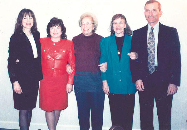 Belva Snyder was 82 when this photo was taken of her and her four children. Pictured are, from left, Jonnette Reuschling, Sandra Turtle, Belva, Andrea Clopper and John Snyder.