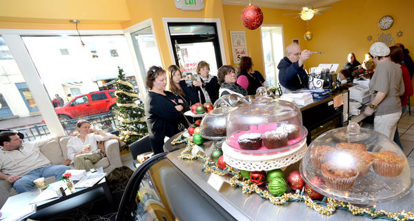 Icing Bakery & Cafe was packed Saturday during the Holiday in Boonsboro festivities as small business opened their doors for holiday shopping.