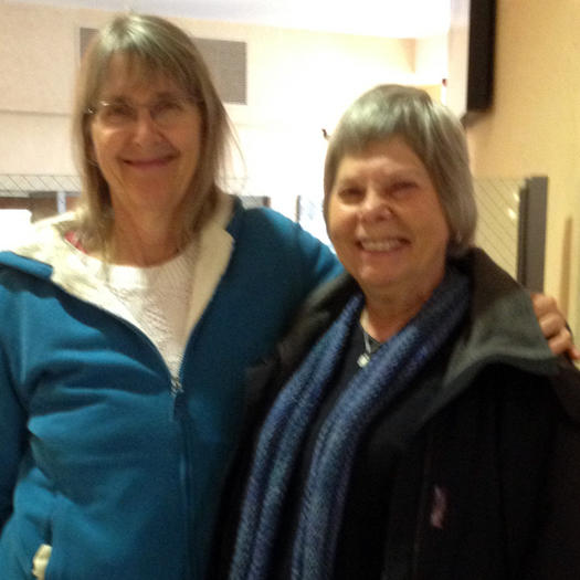 Nancy Prince, now 64, left, and Janet Laub, 69