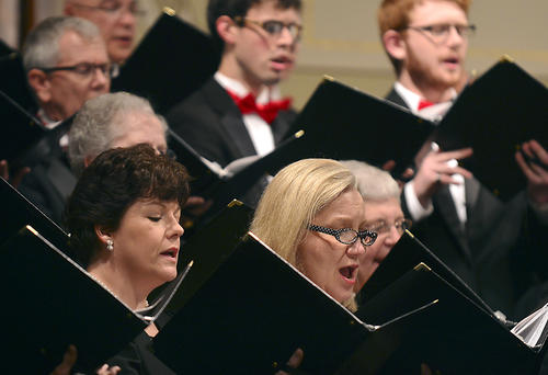 "Hagerstown Choral Arts, with special guests Capital Carillon Handbell Choir and Hub City Brass, perform the ""Sing Noel"" holiday concert at Trinity Lutheran Church on Saturday in Hagerstown."