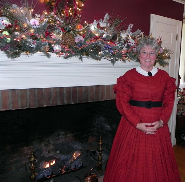 Barbara McCracken welcomed guests into her private home on Welty Road during Saturday's Stone House Tour and More.