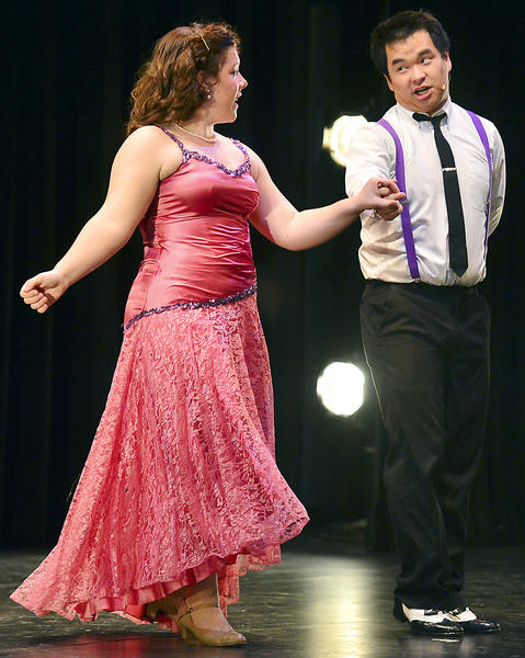 "Sarah Lum and Daniel Roberts sing and dance to ""It's De-Lovely"" Saturday during An Afternoon of Song and Dance at Hagerstown Community College's Kepler Theater."