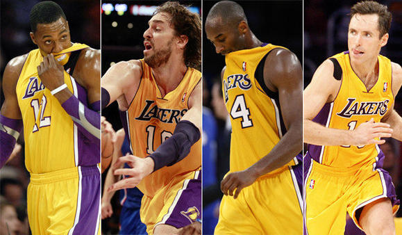 Dwight Howard, Pau Gasol, Kobe Bryant, Steve Nash