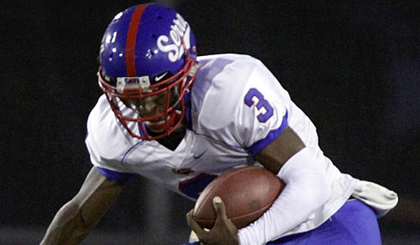 Quarterback Jalen Greene, shown during a game in August, completed nine of 11 passes for 70 yards and rushed 12 times for 90 yards during Serra's 27-10 victory over Edison in the first CIF state regional Division II bowl game Saturday night at Orange Coast College.
