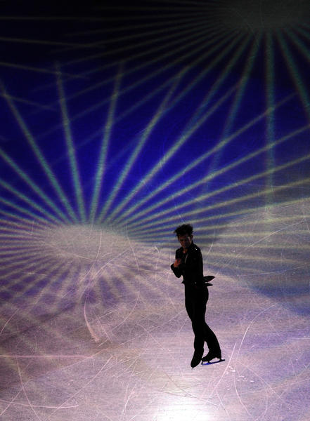 Japan's Daisuke Takahashi performs during gala-exhibition at the ISU Grand Prix of Figure Skating Final in Sochi on December 9, 2012.
