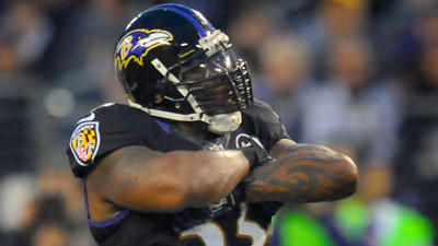 Terrell Suggs scratched for today's game against Redskins