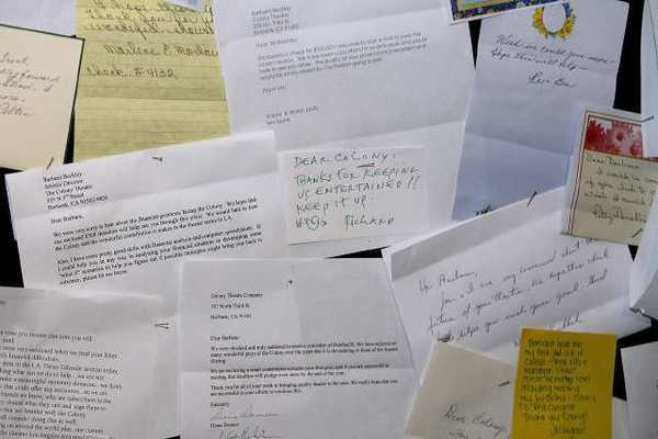 Burbank's Colony Theater received numerous letters of appreciation after the public found out i tmay close due to financial problems.