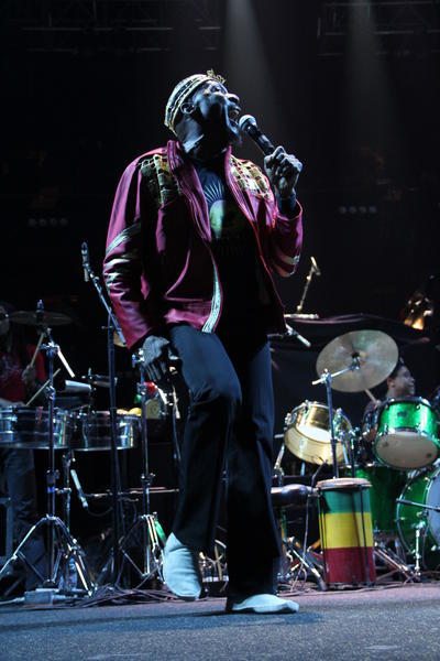 Jamaican musician Jimmy Cliff opens for the Dave Matthews Band concert at the Mohegan Sun Arena on Saturday, Dec. 8.