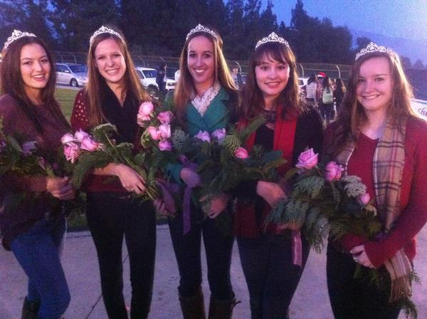 Madison Johnson, from left, Stephanie Beck, Courtney Perry, Nora Sagal and Chelsea Johnson were named Friday to the 2013 Miss La Canada Flintridge Court during the Festival in Lights. The Miss LCF program is offered each year through the LCF Chamber of Commerce and La Canada Junior Womens Club.