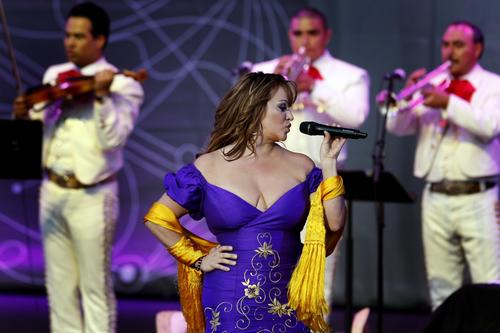 Jenni Rivera performs Saturday night at the Lilith Fair concert tour which made a stop at the Verizon Amphitheater.