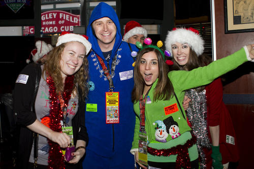 "Costumed crawlers parties through Wrigleyville Dec. 8 at the annual TBOX bar crawl. <a href=""http://chicago.metromix.com/stories/1037-guide-to-holiday-parties-bar-crawls"" target=""_"">Find more holiday parties here</a>."
