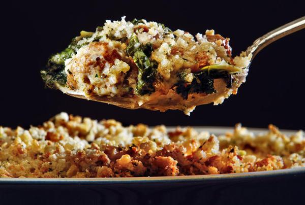 Italian-sausage-and-kale gratin