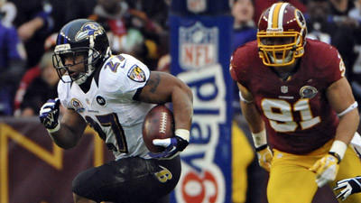 Rushing attack works for Ravens in loss to Redskins