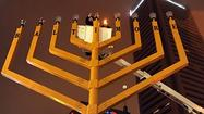 Hanukkah celebrants gather for downtown Baltimore menorah lighting
