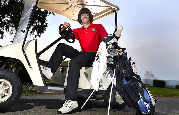 North Hagerstown senior Aaron Staley is The Herald-Mail's 2012 Washington County Golfer of the Year.