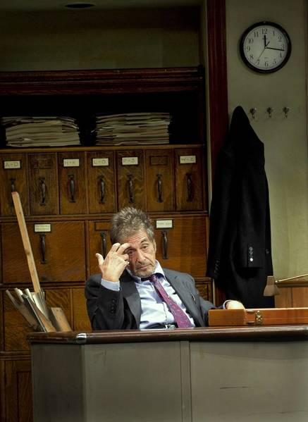 "Al Pacino in ""Glengarry Glen Ross"" at Gerald Schoenfeld Theatre in New York."