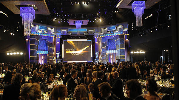 The interior of the Shrine Auditorium at the 18th Annual Screen Actors Guild Awards show.