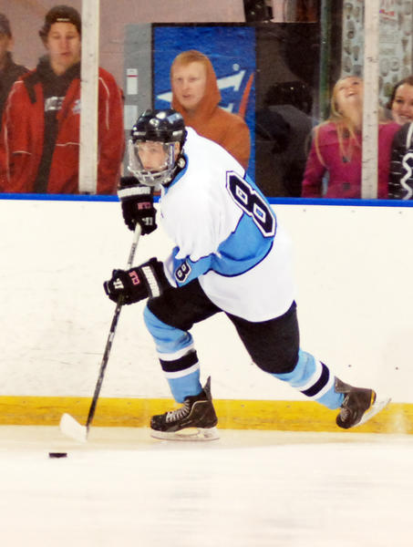 Petoskey senior defenseman Kevin Hansen had three goals and an assist Friday as the Northmen defeated the Mid-Michigan Storm, 9-1, in a Northern Michigan Hockey League contest to improve to 3-2-0 overall, 3-1-0 league.