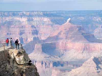 January and February are the least busy times at the Grand Canyon National Park's south rim. The north rim of the canyon is closed until May.