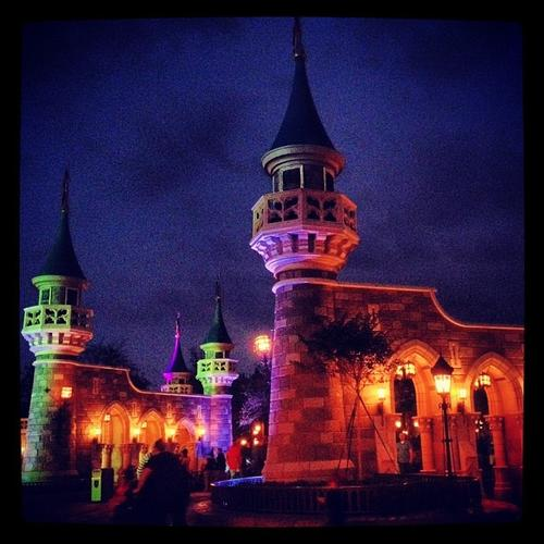 @tea4tiffany took this shot of the new Fantasyland castle walls at Walt Disney World's Magic Kingdom. #thedailydisney
