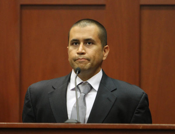 George Zimmerman takes the stand during his bond hearing for the shooting death of Trayvon Martin in Circuit Judge Kenneth Lester's courtroom in Sanford, Fla. Friday, April 20, 2012.  Lester ruled that Zimmerman can be released on $150,000 bail as he awaits trial.