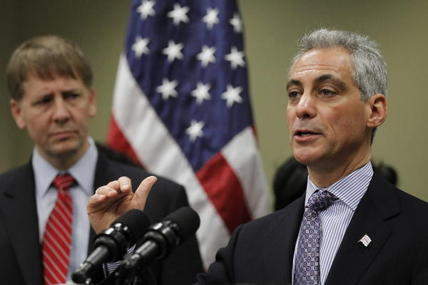 Mayor Rahm Emanuel, seen here last week, declined today to fire back at comments Cook County Board President Toni Preckwinkle made about crime and education in Chicago.