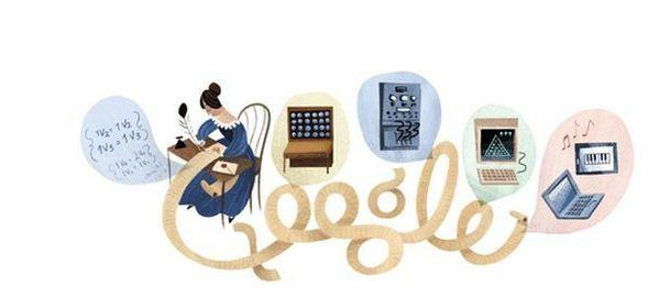 The latest Google Doodle depicts Ada Lovelace and her contribution to mathematics and technology.