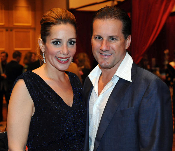 "Allison Lavandosky, left, and Gerald Lavandosky at the Diamond Angels of Joe DiMaggio Children's Hospital Foundation's ninth annual ""Fairy Tale Ball,"" which took place Nov. 10 at the Westin Diplomat Resort & Spa and raised more than $400,000."