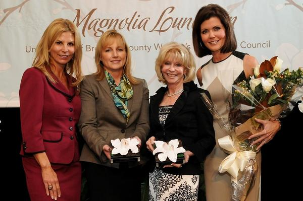 "Kathleen Cannon, left, Lori Chevy, Ginny Miller and Laurie Jennings at United Way of Broward County's second annual ""Magnolia Luncheon,"" which took place Nov. 8 at Pier 66. The luncheon was hosted by the nonprofit's Women Leadership Council and presented by Broward Health. To see more photos from <i>Society Scene's</i> Broward edition, visit www.Facebook.com/SocietyScene."