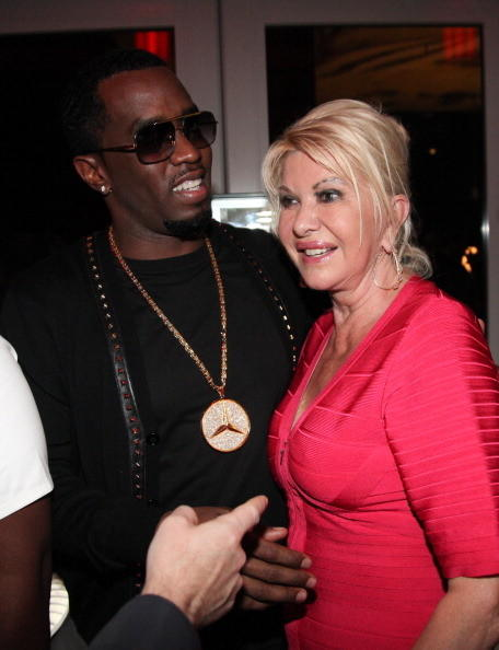 Sean 'Diddy' Combs and Ivana Trump attend Rico Love's 30th Birthday Celebration on December 8, 2012 in Miami, Florida. (Photo by )
