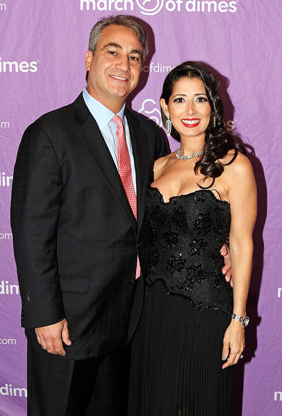 "Tony Javarone, left, and Monique Javarone at the March of Dimes' ""Born With Style"" event, which took place Dec. 4 at the Beach Club located in Palm Beach. The evening featured local men and women who dressed in fashions representing the decades from the '50s to the '90s."