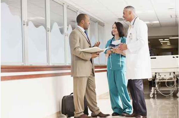 Pharmaceutical sales reps spend a lot of time on the road talking with pharmacists, hospital personnel and doctors.