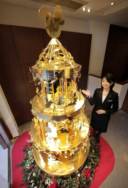If you're looking to buy holiday cheer this year, put this solid gold Christmas tree on your shopping list. The 7.8-foot tall tree, on display at the Ginza Tanaka jewelry store in Tokyo, is made from about 90 pounds of gold and costs about $4.3 million.