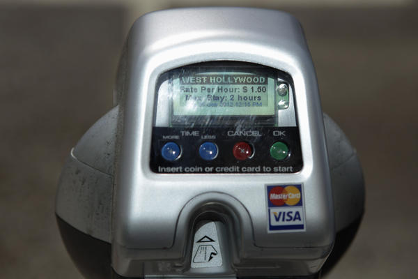 The new coin and credit-card meters
