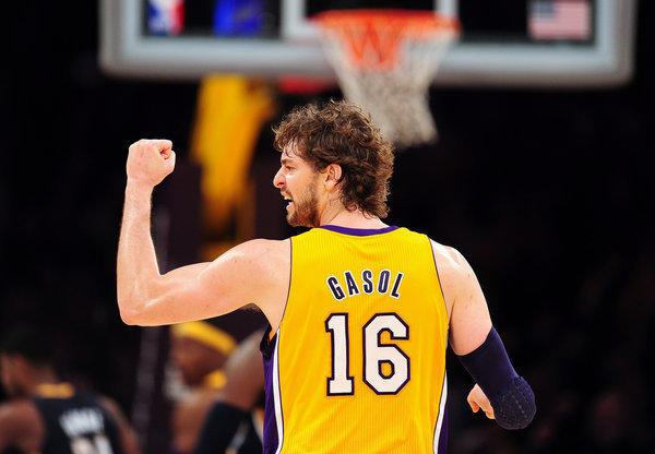 Power forward Pau Gasol has missed four games with tendinitis in his knees.