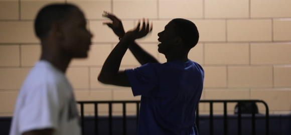 Simeon players at practice earlier this season.