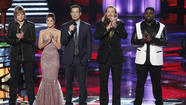 """The Voice"" trimmed itself down to a tidy hour on Monday for this season's penultimate performance show, but on Tuesday night's elimination show only one artist will head home, meaning three of the remaining four contestants – Trevin Hunte and Nicholas David, from Team CeeLo, and Cassadee Pope and Terry McDermott, from Team Blake -- will advance to next week's finals."