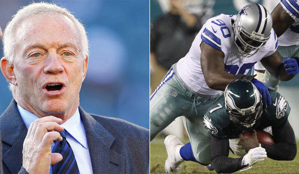 Dallas Cowboys owner Jerry Jones, left, and injured nose tackle Jay Ratliff allegedly had a heated confrontation in the locker room earlier this month.