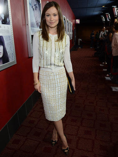 "Olivia Wilde attends the premiere of Magnolia Pictures' ""Deadfall"" at Hollywood's ArcLight Cinemas on Nov. 29."