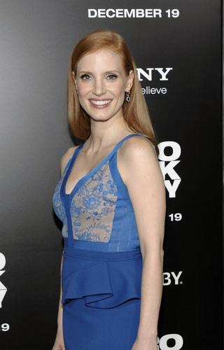 """Jessica Chastain, who plays Maya in """"Zero Dark Thirty,"""" arrives at the film's Los Angeles premiere held at the Dolby Theatre."""