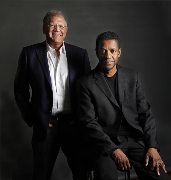 "Director Robert Zemeckis and Denzel Washington worked together on the new movie ""Flight."""