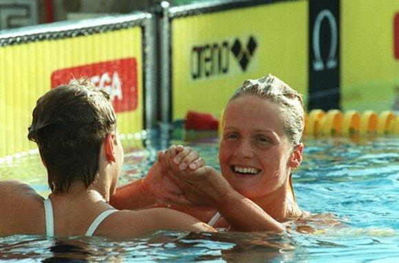 East German swimmer Kristin Otto's name was in Stasi doping records after she won six Olympic gold medals in 1988.