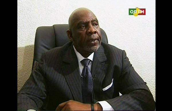 In this still frame made from video provided by ORTM Mali TV, Mali's Prime Minister Cheikh Modibo Diarra resigns during a broadcast on state television from Bamako on Tuesday.