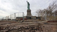 Among Superstorm Sandy victims still struggling to recover: Liberty Island.