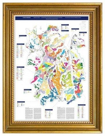 From Alessandro Masnaghetti, a highly detailed map of Barolo and its communes suitable for framing.