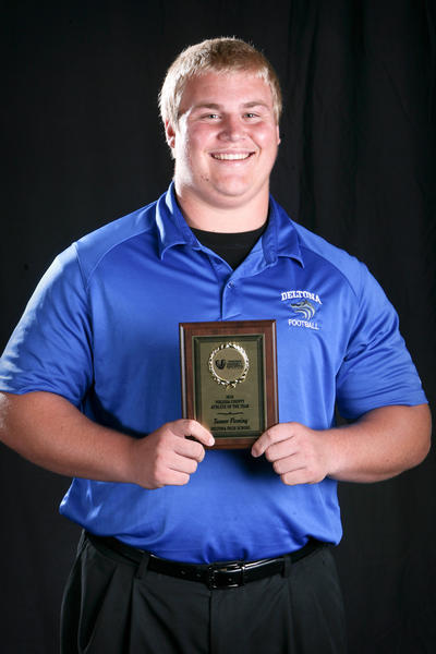 Tanner Fleming, a weightlifting, track and field, and football star at Deltona High School is the winner of the Orlando Sentinel 2010 Volusia County Athlete of the Year Award.