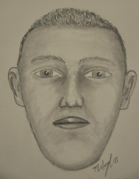 A sketch of an Elgin armed robbery suspect.