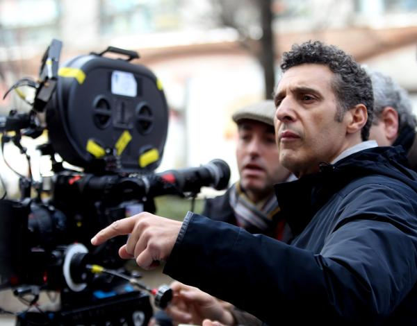 "John Turturro films a scene from ""Fading Gigolo"" on the streets of Manhattan."